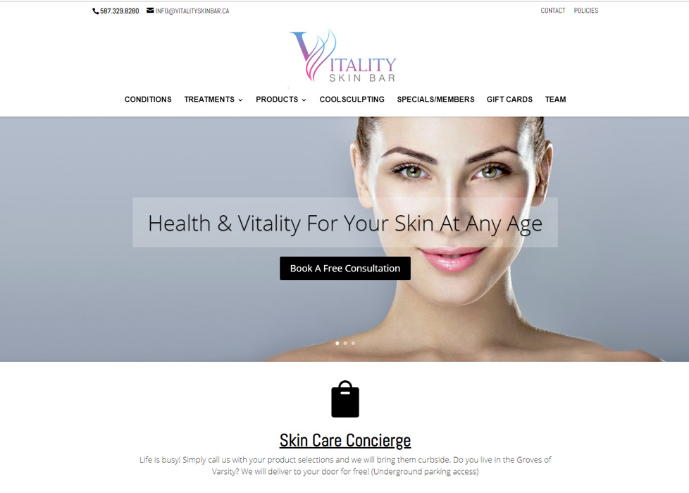 Vitality Skin Bar