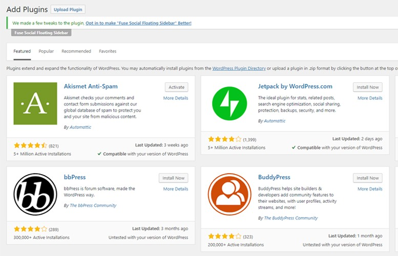 install wordpress plugins with good reviews and that have been updated recently